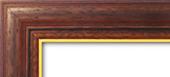 Holzrahmen Detailansicht Classic 1 Braun / Gold